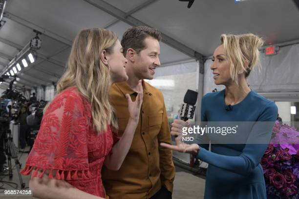 NBCUniversal Upfront in New York City on Monday May 14 2018 Red Carpet Pictured Melissa Roxburgh Josh Dallas Manifest Giuliana Rancic E News on E...