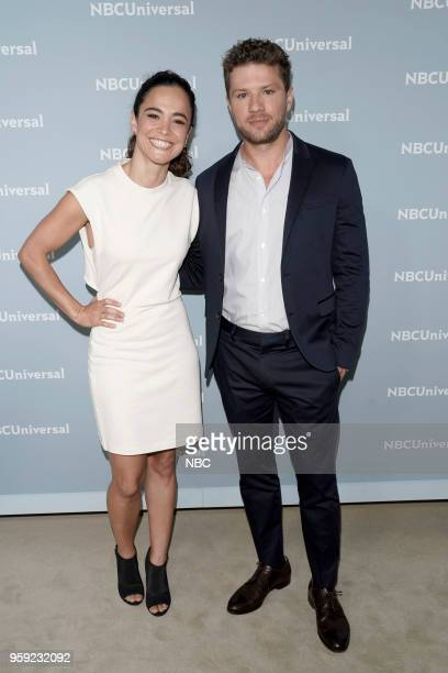 NBCUniversal Upfront in New York City on Monday May 14 2018 Red Carpet Pictured Alice Braga 'Queen of the South' on USA Network Ryan Phillippe...