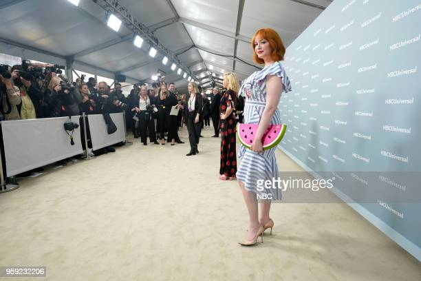 NBCUniversal Upfront in New York City on Monday May 14 2018 Red Carpet Pictured Christina Hendricks 'Good Girls' on NBC