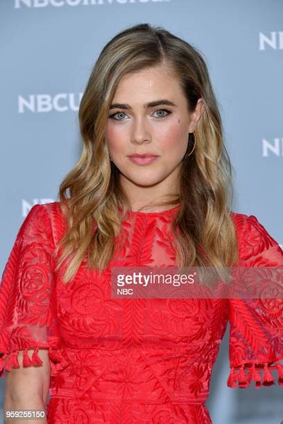 NBCUniversal Upfront in New York City on Monday May 14 2018 Red Carpet Pictured Melissa Roxburgh Manifest on NBC