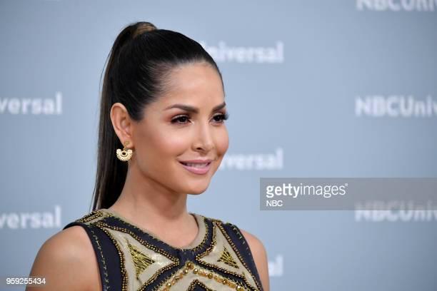 "NBCUniversal Upfront in New York City on Monday, May 14, 2018 -- Red Carpet -- Pictured: Carmen Villalobos, ""Sin Senos Si Hay Paraiso"" on Telemundo --"