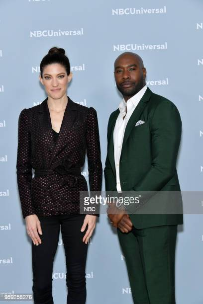 NBCUniversal Upfront in New York City on Monday May 14 2018 Red Carpet Pictured Jennifer Carpenter Morris Chestnut The Enemy Within on NBC