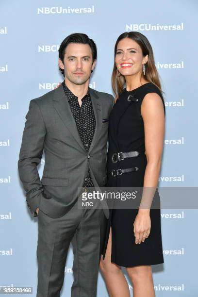 NBCUniversal Upfront in New York City on Monday May 14 2018 Red Carpet Pictured Milo Ventimiglia Mandy Moore 'This Is Us' on NBC