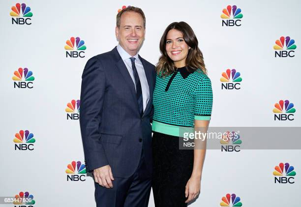 NBCUniversal Upfront in New York City on Monday May 15 2017 Executive Portraits Pictured Robert Greenblatt Chairman NBC Entertainment Mandy Moore...