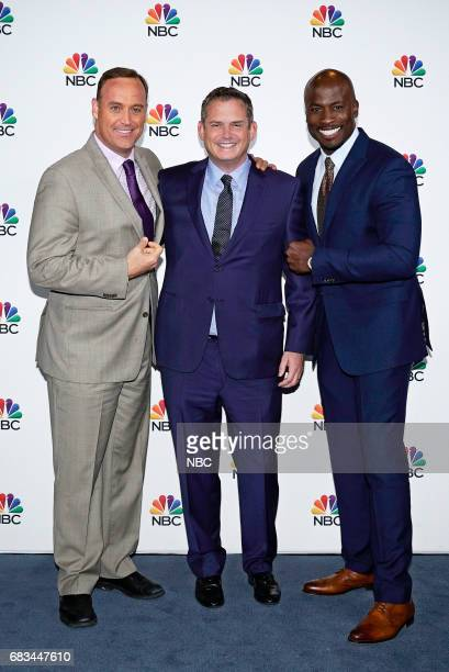 NBCUniversal Upfront in New York City on Monday May 15 2017 Executive Portraits Pictured Matt Iseman 'American Ninja Warrior' on NBC Paul Telegdy...