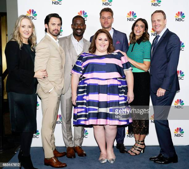 NBCUniversal Upfront in New York City on Monday May 15 2017 Executive Portraits Pictured Jennifer Salke President NBC Entertainment Milo Ventimiglia...