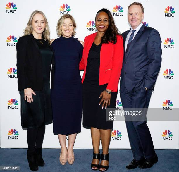NBCUniversal Upfront in New York City on Monday May 15 2017 Executive Portraits Pictured Jennifer Salke President NBC Entertainment Edie Falco 'Law...