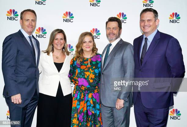 NBCUniversal Upfront in New York City on Monday May 15 2017 Executive Portraits Pictured Robert Greenblatt Chairman NBC Entertainment Meredith Ahr...