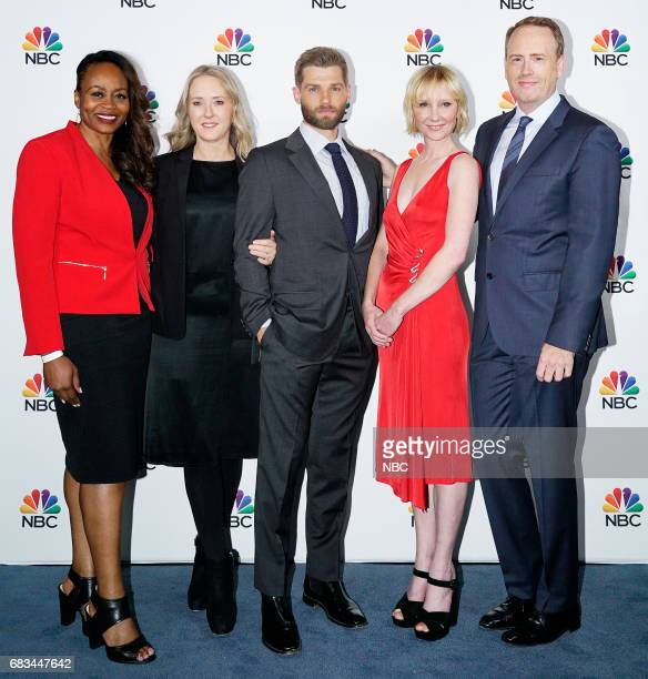 NBCUniversal Upfront in New York City on Monday May 15 2017 Executive Portraits Pictured Pearlena Igbokwe President Universal Television Jennifer...