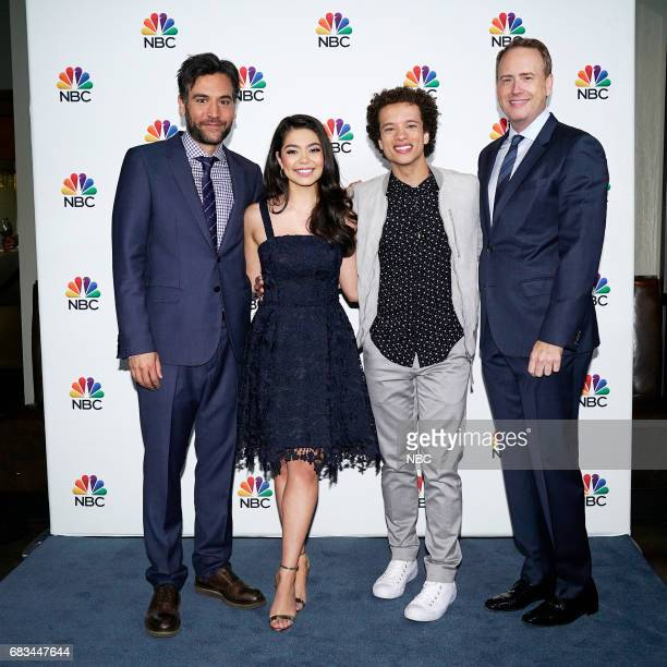 NBCUniversal Upfront in New York City on Monday May 15 2017 Executive Portraits Pictured Josh Radnor Auli'i Cravalho Damon J Gillespie 'Rise' on NBC...