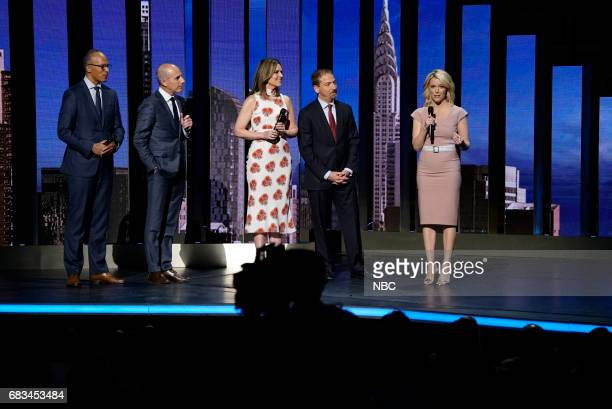 NBCUniversal Upfront in New York City on Monday May 15 2017 Pictured Lester Holt 'NBC Nightly News with Lester Holt' on NBC Matt Lauer Savannah...