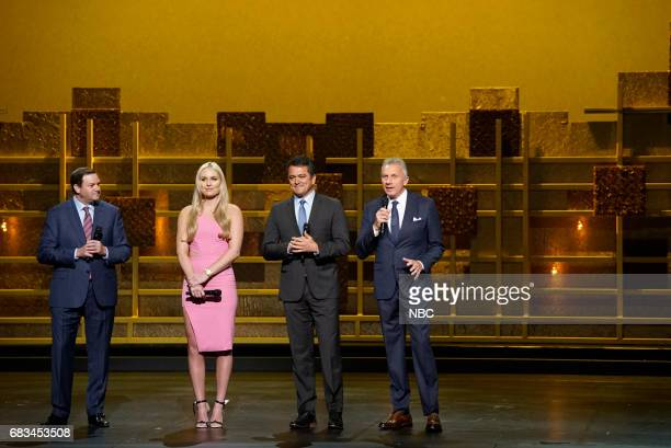 NBCUniversal Upfront in New York City on Monday May 15 2017 Pictured Mark Lazarus Chairman NBC Broadcasting Sports Lindsey Vonn 'Olympics' on NBC...