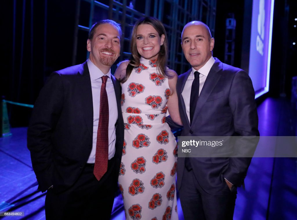NBCUniversal Upfront in New York City on Monday, May 15, 2017 -- Pictured: (l-r) Chuck Todd, 'Meet the Press', Savannah Guthrie, Matt Lauer, 'Today' on NBC --