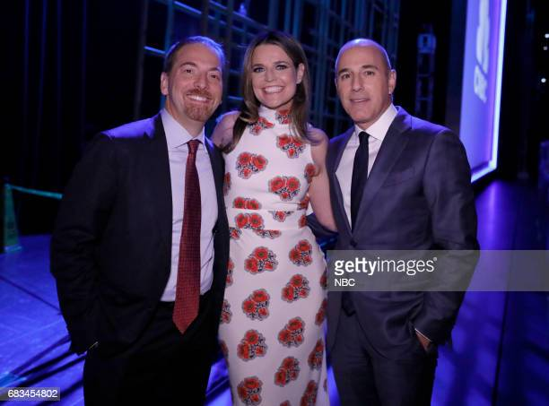 NBCUniversal Upfront in New York City on Monday May 15 2017 Pictured Chuck Todd 'Meet the Press' Savannah Guthrie Matt Lauer 'Today' on NBC