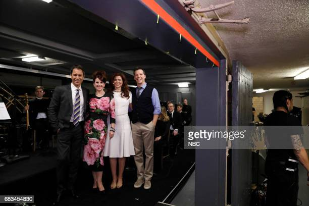 NBCUniversal Upfront in New York City on Monday May 15 2017 Pictured Eric McCormack Megan Mullally Debra Messing Sean Hayes 'Will Grace' on NBC