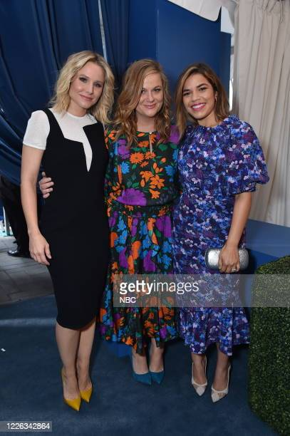"""NBCUniversal Upfront in New York City on Monday, May 15, 2017 -- Red Carpet -- Pictured: Kristen Bell """"The Good Place"""", Amy Poehler """"The Handmade..."""