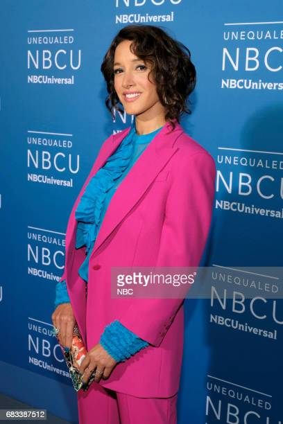"""NBCUniversal Upfront in New York City on Monday, May 15, 2017 -- Red Carpet -- Pictured: Jennifer Beals, """"Taken"""" on NBC --"""