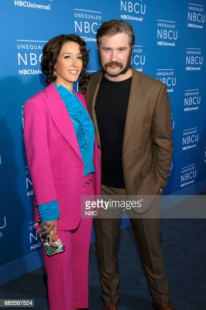 NBCUniversal Upfront in New York City on Monday May 15 2017 Red Carpet Pictured Jennifer Beals Clive Standen Taken on NBC