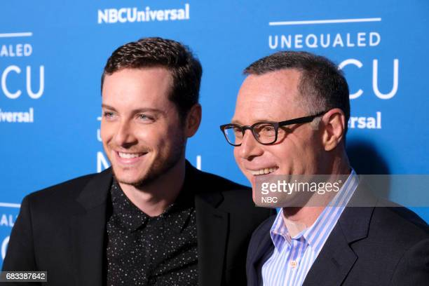 NBCUniversal Upfront in New York City on Monday May 15 2017 Red Carpet Pictured Jesse Lee Soffer Jason Beghe Chicago PD on NBC