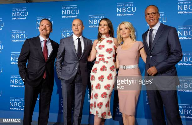 NBCUniversal Upfront in New York City on Monday May 15 2017 Red Carpet Pictured Chuck Todd Meet the Press on NBC Matt Lauer Savannah Guthrie Megyn...