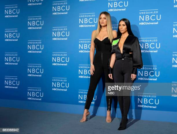 NBCUniversal Upfront in New York City on Monday May 15 2017 Red Carpet Pictured Khloé Kardashian Kim Kardashian West Keeping Up with the Kardashians...