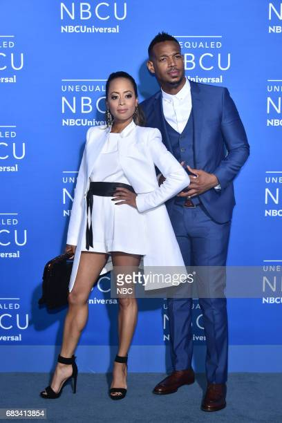 NBCUniversal Upfront in New York City on Monday May 15 2017 Red Carpet Pictured Essence Atkins Marlon Wayans Marlon on NBC