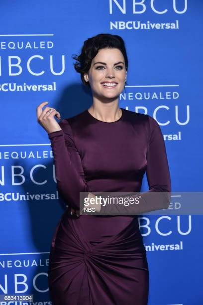 NBCUniversal Upfront in New York City on Monday May 15 2017 Red Carpet Pictured Jaimie Alexander 'Blindspot' on NBC
