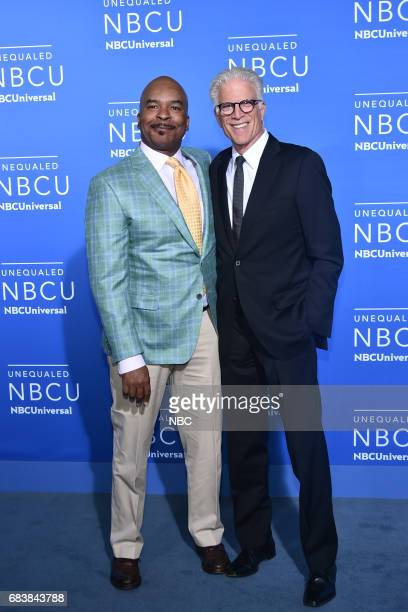 NBCUniversal Upfront in New York City on Monday May 15 2017 Red Carpet Pictured David Alan Grier 'The Carmichael Show' on NBC Ted Danson 'The Good...