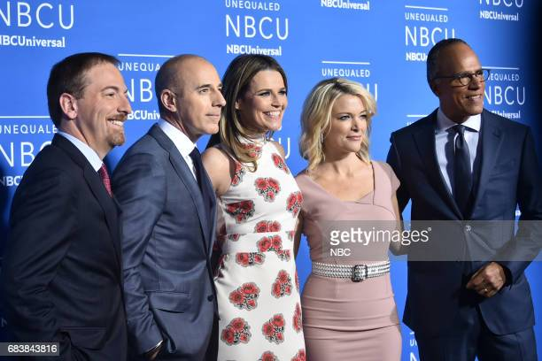 NBCUniversal Upfront in New York City on Monday May 15 2017 Red Carpet Pictured Chuck Todd 'Meet The Press' on NBC Matt Lauer and Savannah Guthrie...