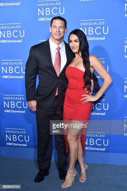 NBCUniversal Upfront in New York City on Monday May 15 2017 Red Carpet Pictured John Cena 'WWE' on USA Network Nikki Bella 'Total Divas' on E...