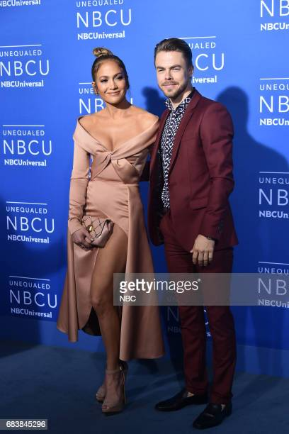 NBCUniversal Upfront in New York City on Monday May 15 2017 Red Carpet Pictured Jennifer Lopez Derek Hough 'World of Dance' on NBC