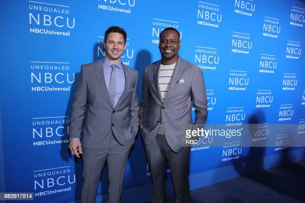 NBCUniversal Upfront in New York City on Monday May 15 2017 Red Carpet Pictured Matt Lanter Malcolm Barrett 'Timeless' on NBC