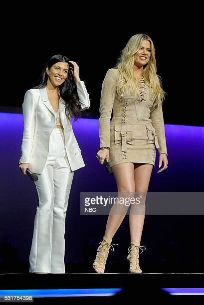 UPFRONT 2016 NBCUniversal Upfront in New York City on Monday May 16 2016 Pictured Kourtney Kardashian Khloe Kardashian Keeping Up with the...