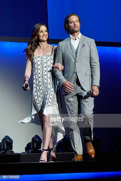UPFRONT '2016 NBCUniversal Upfront in New York City on Monday May 16 2016' Pictured Sarah Wayne Callies Josh Holloway 'Colony' on USA Network