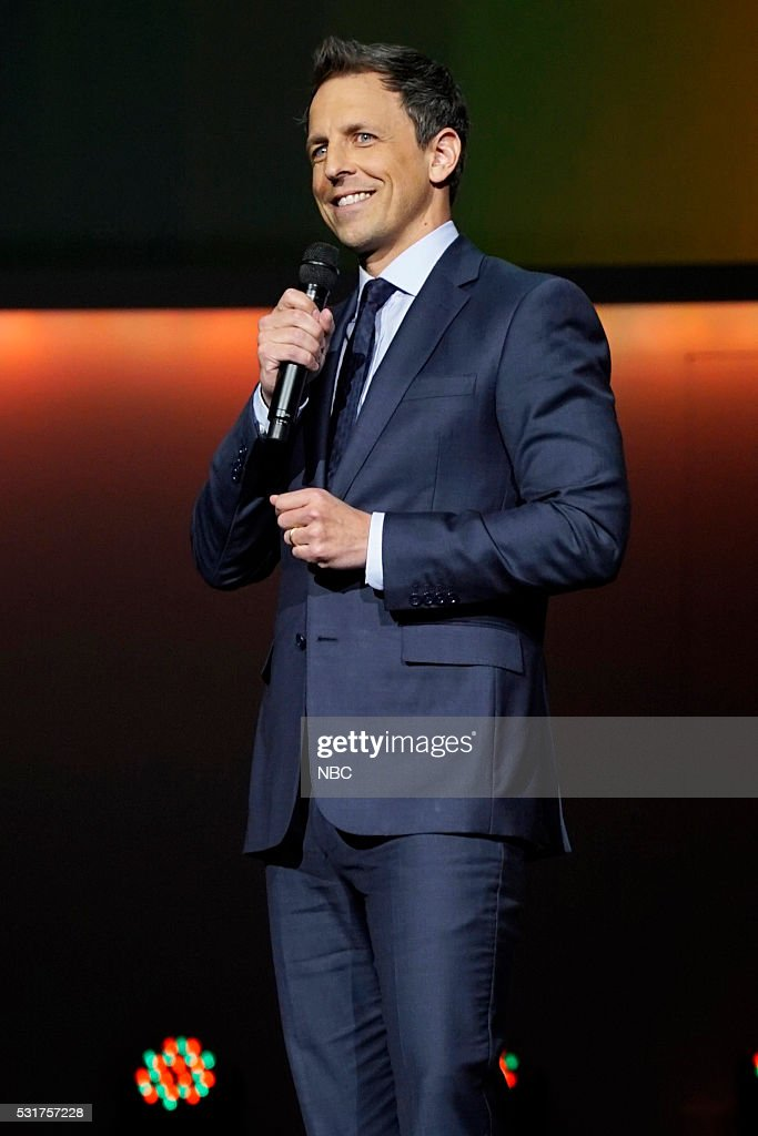 UPFRONT -- '2016 NBCUniversal Upfront in New York City on Monday, May 16, 2016' -- Pictured: Seth Meyers, 'Late Night with Seth Meyers' on NBC --