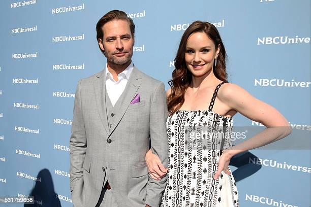 UPFRONT '2016 NBCUniversal Upfront in New York City on Monday May 16 2016' Pictured Josh Holloway and Sarah Wayne Callies 'Colony' on USA Network