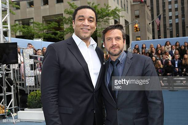 UPFRONT '2016 NBCUniversal Upfront in New York City on Monday May 16 2016' Pictured Harry Lennix 'The Blacklist' and Raul Esparza 'Law and Order...