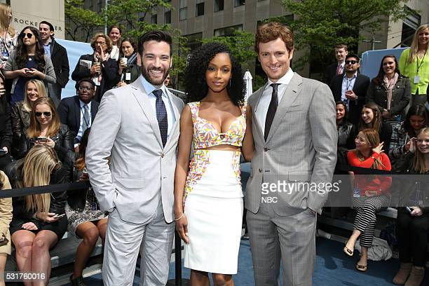 UPFRONT '2016 NBCUniversal Upfront in New York City on Monday May 16 2016' Pictured Colin Donnell Yaya DaCosta Nick Gehlfuss 'Chicago Med' on NBC