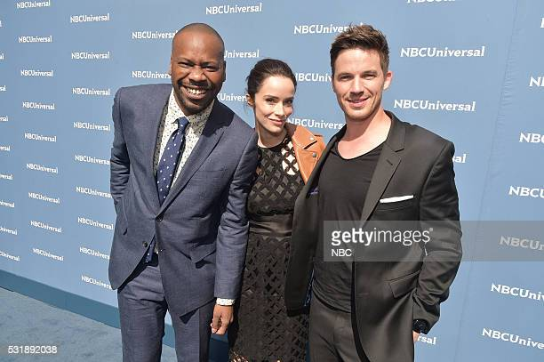 UPFRONT '2016 NBCUniversal Upfront in New York City on Monday May 16 2016' Pictured Malcolm Barrett Abigail Spencer Matt Lanter 'Timeless' on NBC