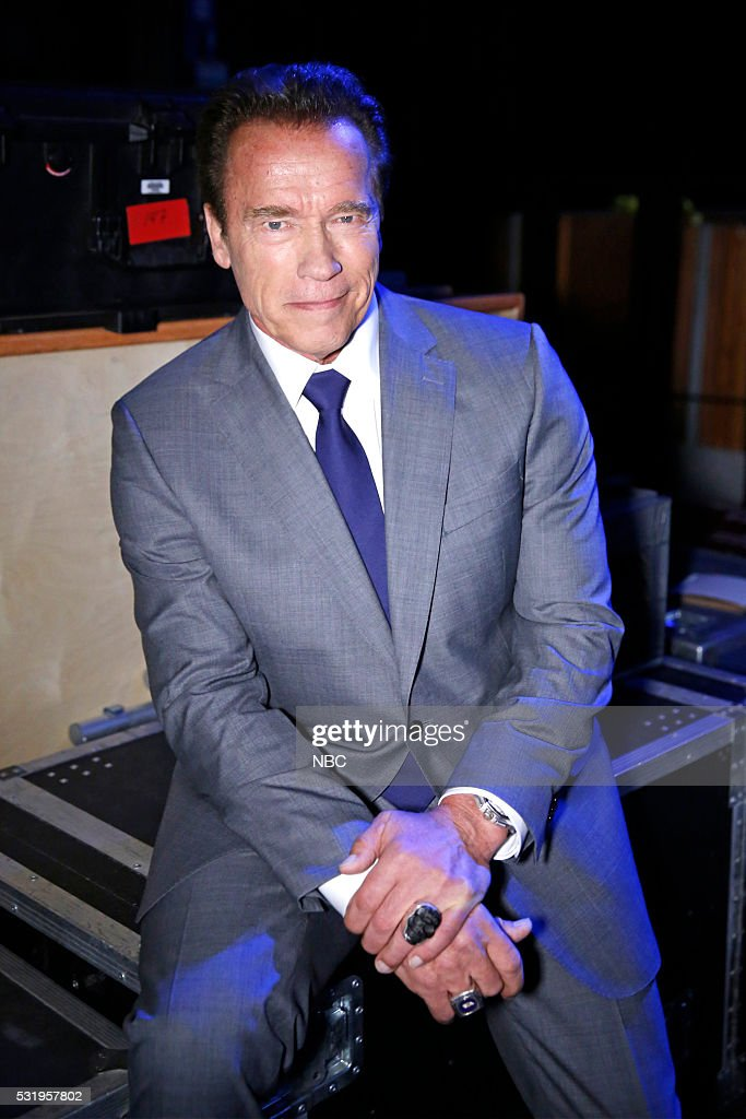UPFRONT -- '2016 NBCUniversal Upfront in New York City on Monday, May 16, 2016' -- Pictured: Arnold Schwarzenegger, 'The New Celebrity Apprentice' on NBC --