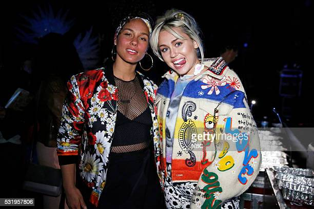 UPFRONT '2016 NBCUniversal Upfront in New York City on Monday May 16 2016' Pictured Alicia Keys Miley Cyrus The Voice on NBC