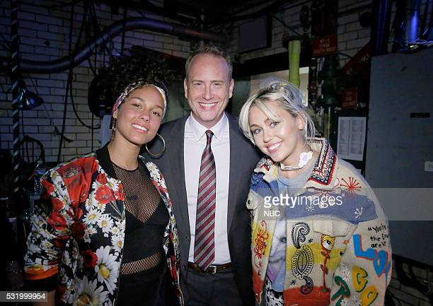 UPFRONT '2016 NBCUniversal Upfront in New York City on Monday May 16 2016' Pictured NBC's 'The Voice' judge Alicia Keys Robert Greenblatt Chairman...