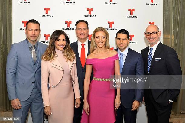 UPFRONT 2016 NBCUniversal Upfront in New York City on Monday May 16 2016 Pictured Rafael Amaya El Senor de los Cielos Gaby Espino Novela Actress Jose...