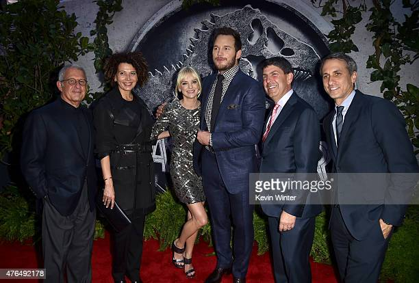 NBCUniversal Vice Chairman Ron Meyer Universal Pictures Chairman Donna Langley actors Anna Faris Chris Pratt Filmed Ent Group Chairman Jeff Shell and...