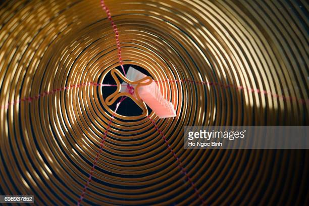 ncense coils in thien hau pagoda in chinatown. - thien hau pagoda stock pictures, royalty-free photos & images