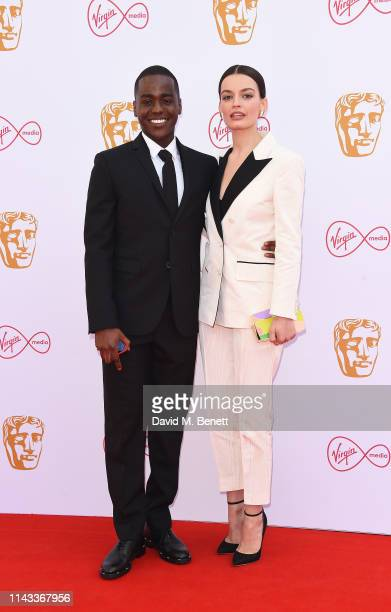 Ncuit Gatwa and Emma Mackey attend the Virgin Media British Academy Television Awards at The Royal Festival Hall on May 12 2019 in London England