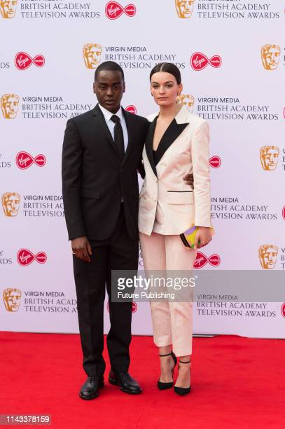 Ncuti Gatwa and Emma Mackey attend the Virgin Media British Academy Television Awards ceremony at the Royal Festival Hall on 12 May 2019 in London...