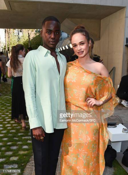 Ncuti Gatwa and Rose Williams attend the Roland Mouret show during London Fashion Week September 2019 on September 15 2019 in London England