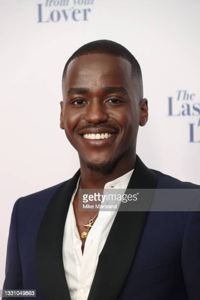 """Ncuti Gatwa attends """"The Last Letter From Your Lover"""" UK premiere at Ham Yard Hotel on July 27, 2021 in London, England."""