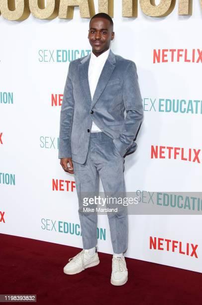 "Ncuti Gatwa attends the ""Sex Education"" Season 2 World Premiere at Genesis Cinema on January 08, 2020 in London, England."